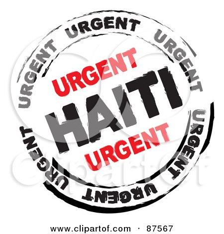 Royalty-Free (RF) Clipart Illustration of a Black And Red Urgen Haiti Danger Stamp by michaeltravers