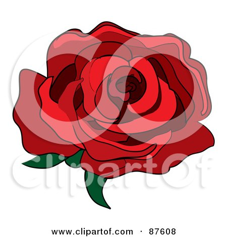 Royalty-Free (RF) Single Red Rose Clipart, Illustrations, Vector ...