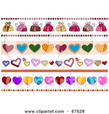 Heart Borders Clip Art. Royalty-Free (RF) Clipart
