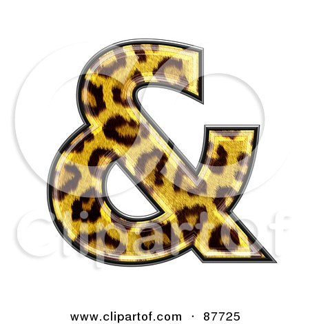 Royalty-Free (RF) Clipart Illustration of a Panther Symbol; Ampersand by chrisroll