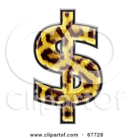 Royalty-Free (RF) Clipart Illustration of a Panther Symbol; Dollar by chrisroll