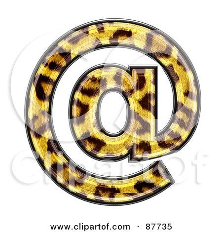 Panther Symbol; Arobase At Symbol Posters, Art Prints