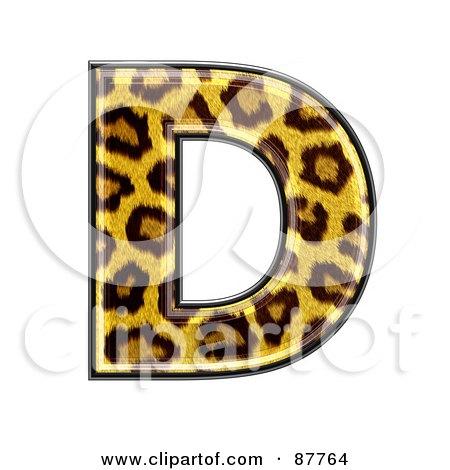 Panther Symbol; Capital Letter D