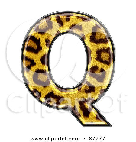 Royalty-Free (RF) Clipart Illustration of a Panther Symbol; Capital Letter Q by chrisroll