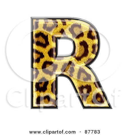 Illustration of a Panther Symbol; Capital Letter R by chrisroll #87783