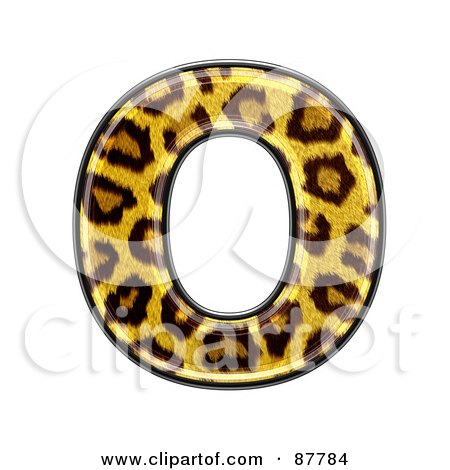 Royalty-Free (RF) Clipart Illustration of a Panther Symbol; Capital Letter O by chrisroll