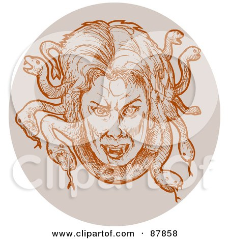 Royalty-Free (RF) Medusa Clipart, Illustrations, Vector Graphics #1