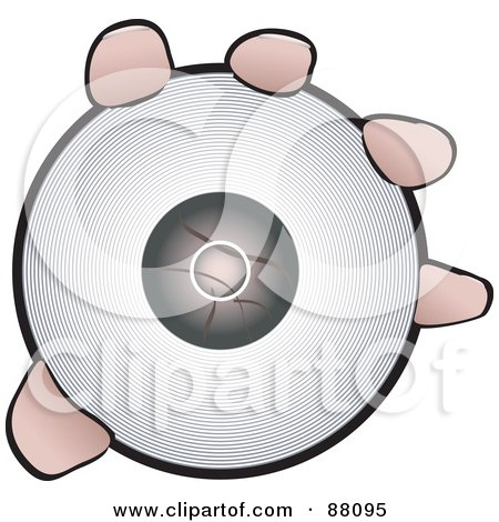 Royalty-Free (RF) Clipart Illustration of a Hand Holding Out A CD ...