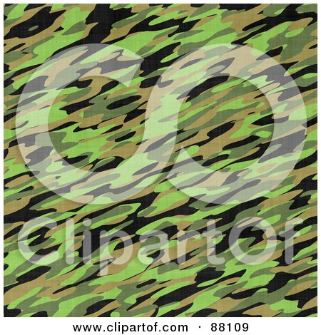 Royalty-Free (RF) Clipart Illustration of a Seamless Green Camouflage Texture Background by Arena Creative
