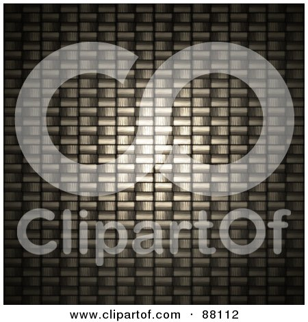 Royalty-Free (RF) Clipart Illustration of a Light Shining On A Closeup Carbon Fiber Weave by Arena Creative