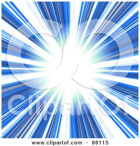 Royalty-Free (RF) Clipart Illustration of a Bright Light Shining From The End Of A Blue Tunnel by Arena Creative