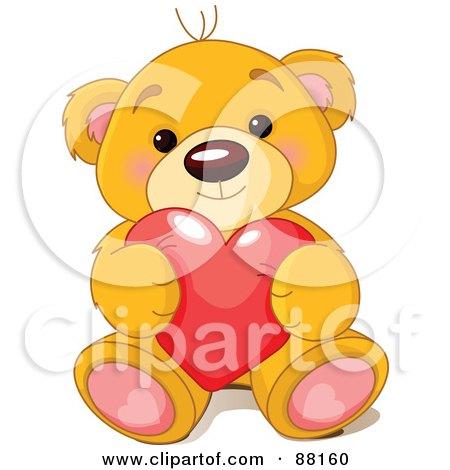 Sitting Bear Drawing Sitting Teddy Bear Holding a
