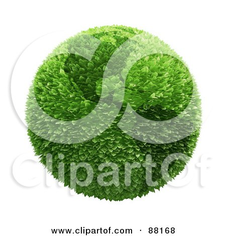 Royalty-Free (RF) Clipart Illustration of a Botanical Earth Of Leaves Featuring The Americas by Mopic