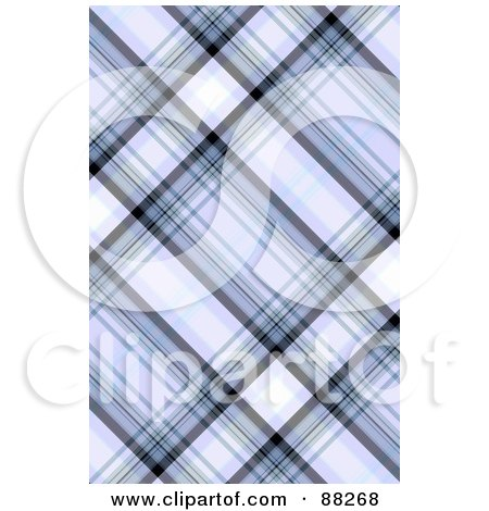 Royalty-Free (RF) Clipart Illustration of a Blue Tartan Plaid Patterned Background by MacX