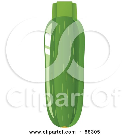 Royalty-Free (RF) Clipart Illustration of a Shiny Green Organic Zucchini by Tonis Pan