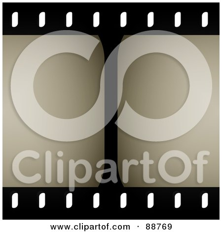 Royalty-Free (RF) Clipart Illustration of a Center Line In A Film Strip by Arena Creative