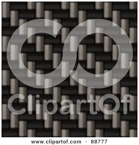 Royalty-Free (RF) Clipart Illustration of a Realistic Carbon Fiber Texture In Diagonal Rows by Arena Creative