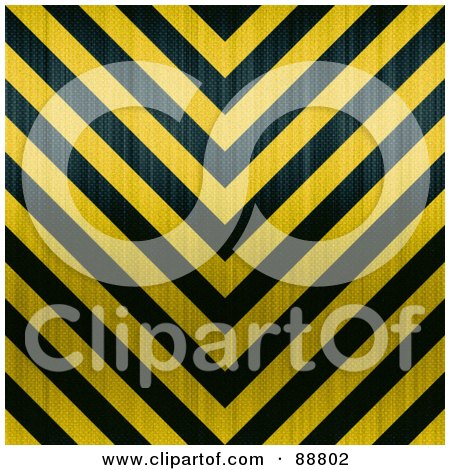 Royalty-Free (RF) Clipart Illustration of a Background Of Yellow And Black Zig Zag Hazard Stripes With Carbon Fiber by Arena Creative