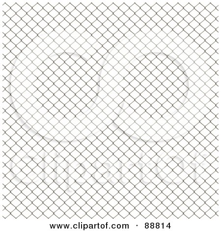 Royalty-Free (RF) Clipart Illustration of a Seamless Chain Link Fence Background Over White by Arena Creative