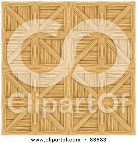 Royalty-Free (RF) Clipart Illustration of a Wooden Crates Pattern Background by Arena Creative