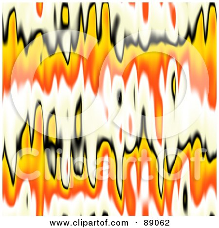 Royalty-Free (RF) Clipart Illustration of a Black, White, Orange And Yellow Flame Background by Arena Creative