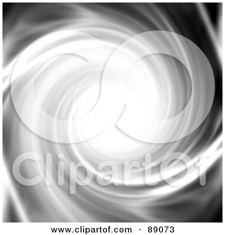 Royalty-Free (RF) Clipart Illustration of a Spiraling White And Gray Tunnel Vortex by Arena Creative