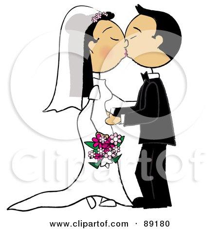 Asian Wedding Couple Smooching Posters, Art Prints