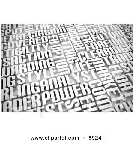 Royalty-Free (RF) Clipart Illustration of a 3d Background Of Business Words by stockillustrations