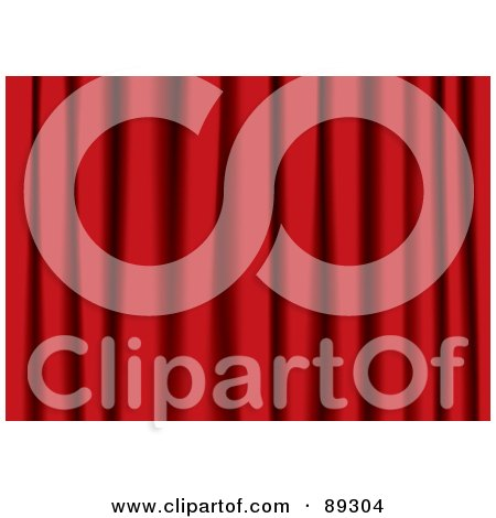 Royalty-Free (RF) Clipart Illustration of Rich Red Theater Curtains by michaeltravers