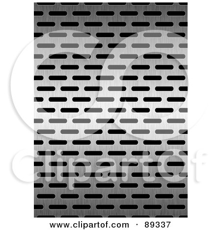 Royalty-Free (RF) Clipart Illustration of a Stainless Steel Grate Background by michaeltravers
