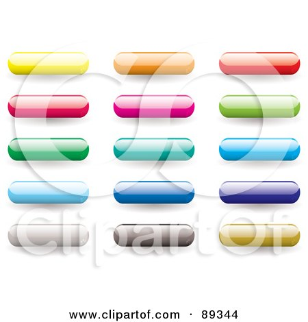Royalty-Free (RF) Clipart Illustration of a Digital Collage Of Shiny Colorful 3d Bar App Buttons by michaeltravers