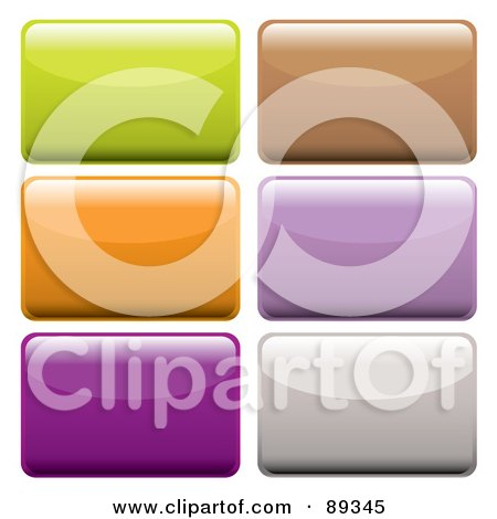 Royalty-Free (RF) Clipart Illustration of a Digital Collage Of Shiny Colorful 3d Rectangle App Buttons by michaeltravers