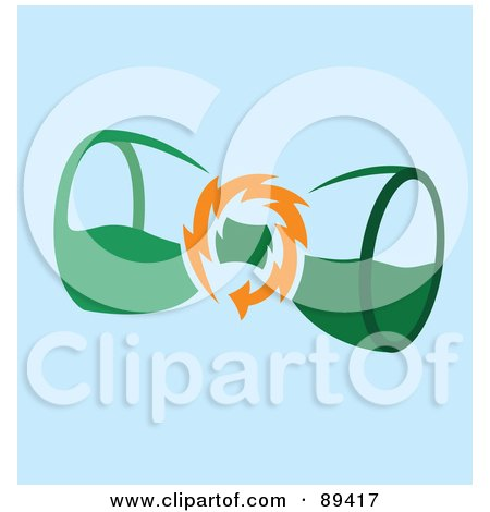 Royalty-Free (RF) Clipart Illustration of Energy Around An Hourglass by Cherie Reve