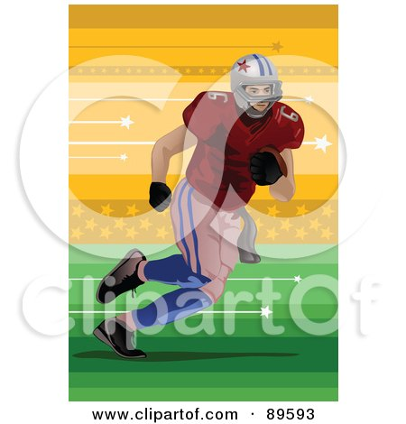 american football players clipart. American Football Player