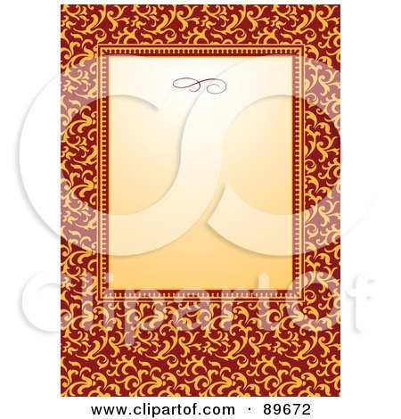 Royalty-Free (RF) Clipart Illustration of an Invitation Border And Frame With Copyspace - Version 30 by BestVector
