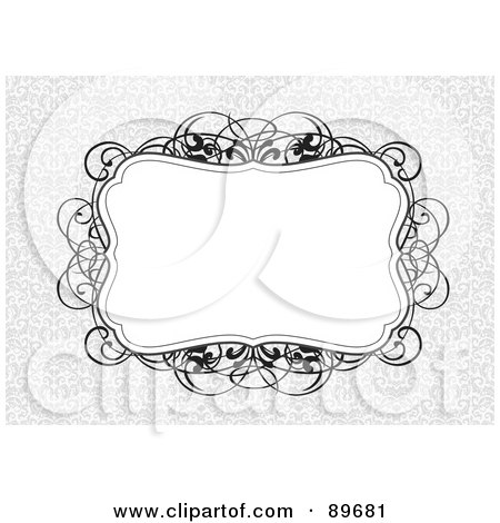 Royalty-Free (RF) Clipart Illustration of an Invitation Border And Frame With Copyspace - Version 22 by BestVector