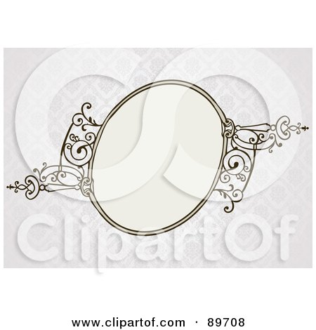 Royalty-Free (RF) Clipart Illustration of an Invitation Border And Frame With Copyspace - Version 20 by BestVector