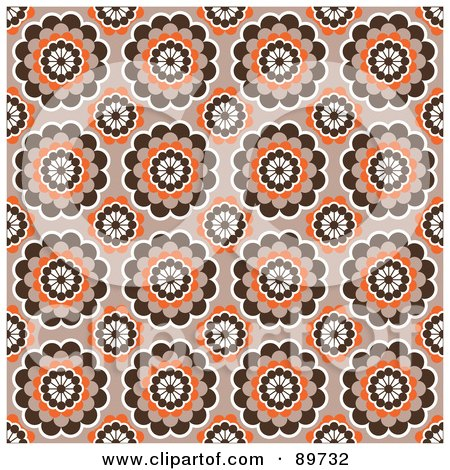 Royalty-Free (RF) Clipart Illustration of a Seamless Circle Pattern Background - Version 14 by BestVector