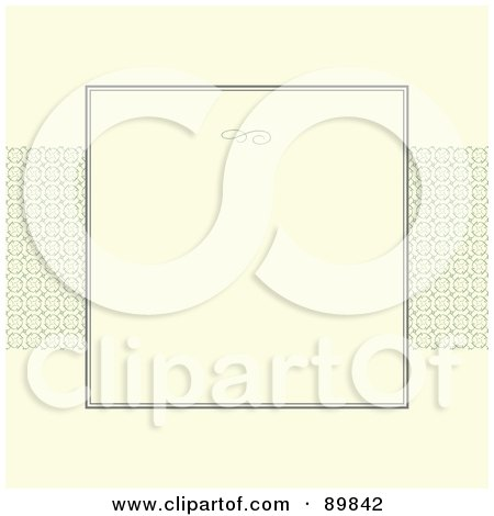 Royalty-Free (RF) Clipart Illustration of an Invitation Border And Frame With Copyspace - Version 2 by BestVector