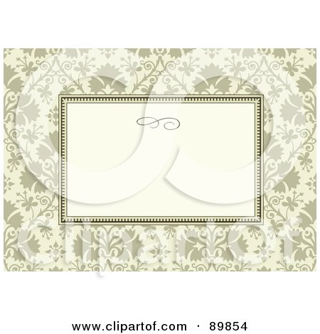 Royalty-Free (RF) Clipart Illustration of a Floral Invitation Border And Frame With Copyspace - Version 36 by BestVector