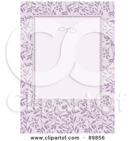 Royalty-Free (RF) Clipart Illustration of a Floral Invitation Border And Frame With Copyspace - Version 33 by BestVector