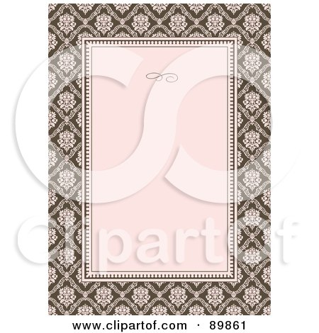 Royalty-Free (RF) Clipart Illustration of an Invitation Border And Frame With Copyspace - Version 10 by BestVector
