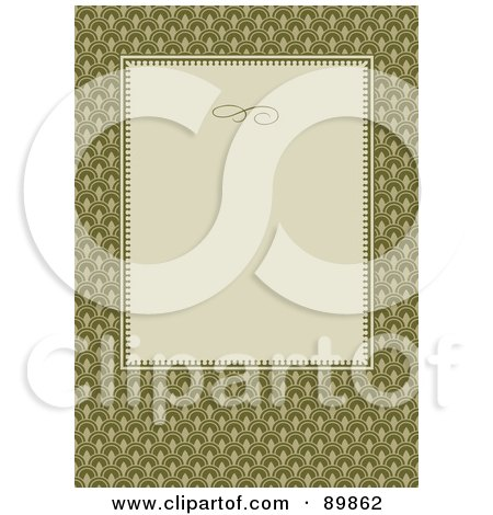 Royalty-Free (RF) Clipart Illustration of an Invitation Border And Frame With Copyspace - Version 14 by BestVector