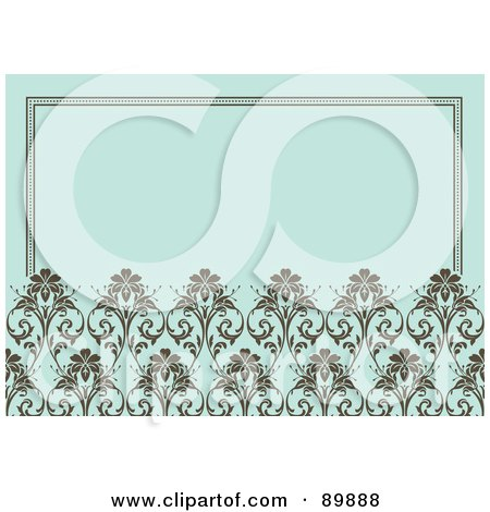 Royalty-Free (RF) Clipart Illustration of a Floral Invitation Border And Frame With Copyspace - Version 4 by BestVector