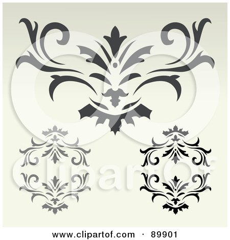 Royalty-Free (RF) Clipart Illustration of a Digital Collage Of Ornate Designs On Beige by BestVector