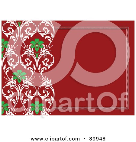 Royalty-Free (RF) Clipart Illustration of a Christmas Invitation Border And Frame With Copyspace - Version 2 by BestVector