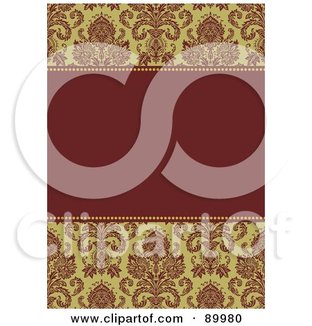 Royalty-Free (RF) Clipart Illustration of a Christmas Invitation Border And Frame With Copyspace - Version 1 by BestVector