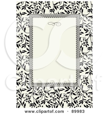 Royalty-Free (RF) Clipart Illustration of an Invitation Border And Frame With Copyspace - Version 15 by BestVector