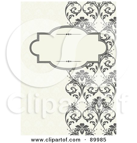 Royalty-Free (RF) Clipart Illustration of a Decorative Invitation Border And Frame With Copyspace - Version 7 by BestVector