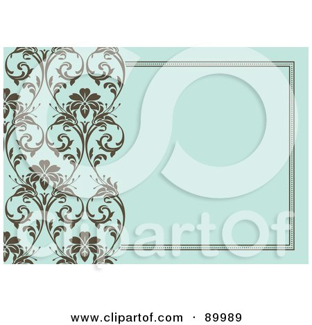 Royalty-Free (RF) Clipart Illustration of a Floral Invitation Border And Frame With Copyspace - Version 2 by BestVector